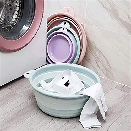 Laundry baskets Kitchen Organzier Laundry Basket Portable Folding Bucket Foldable Basin Tourism Outdoor Fishing Camping Car Washing Bucket (Size : L)