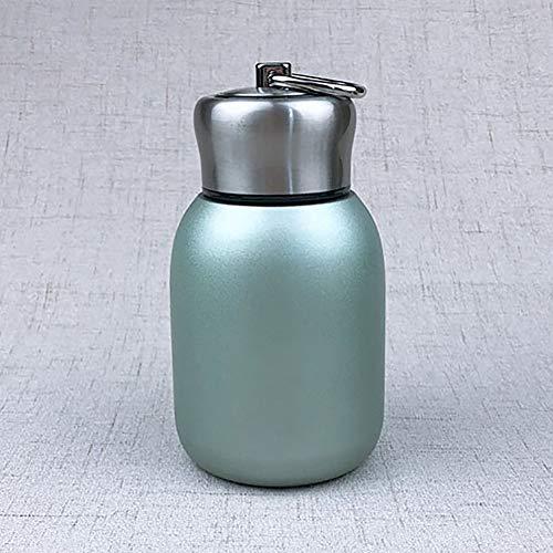 Enticerowts - Thermos da 300 ml, in acciaio inox, a prova di perdite, mini caffè, vino, bottiglia d'acqua, da viaggio, scuola verde