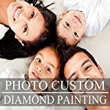 Custom 5D DIY Diamond Painting Kits Full Drill for Adults,Personal Customized Gifts,Personalized Diamond Art for Home Wall Decor (11.7x15.8inch/30x40cm, Round Drill)