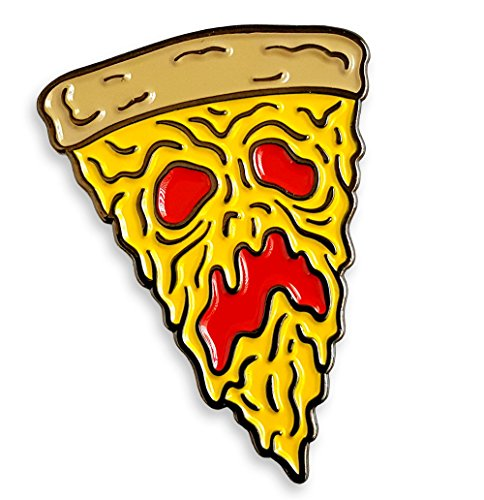 Pinsanity Funny Necronomicon Evil Dead Pizza Slice Enamel Lapel Pin