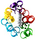 """Chicken Leg Rings – 30 Numbered 1-5 Tag Markers for ADULT Birds 