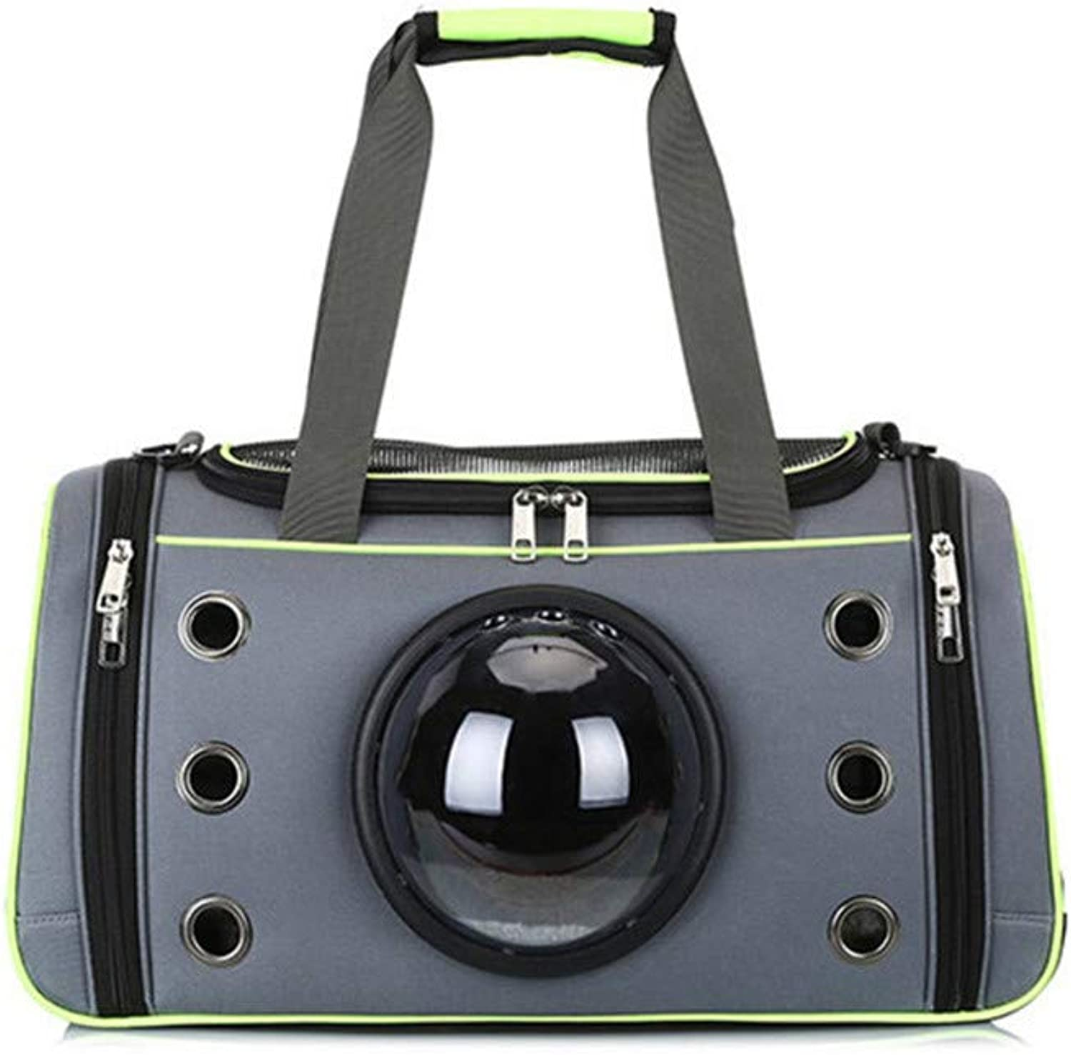 DHCY Pet backpack out portable ventilated space capsule foldable multifunction cat and dog takeaway bag pet handbag