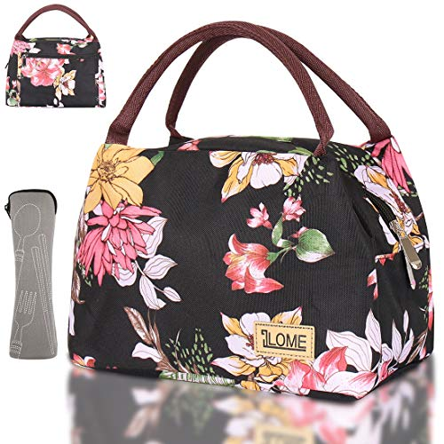 ILOME Insulated Cooler Lunch Bag for Women and Men, Waterproof Lovely...