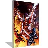 アバター最後のエアベンダーキャンバス絵画アートポスター子供部屋の装飾ポスター絵画リビングルーム寝室の装飾オフィス家の装飾20x30cm(8x12inch)フレームなしポスター2