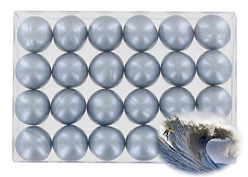 Caja 24 perlas aceite baño nacaradas - plateadas
