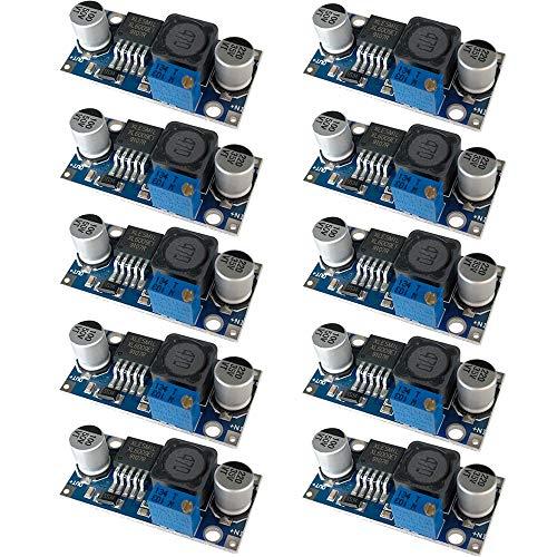 QitinDasen 10Pcs Premium XL6009 DC a DC Modulo Convertitore Boost, 3~32V a 5~35V Regolatore Tensione Step-Up, 4A Modulo Step-Up Regolabile