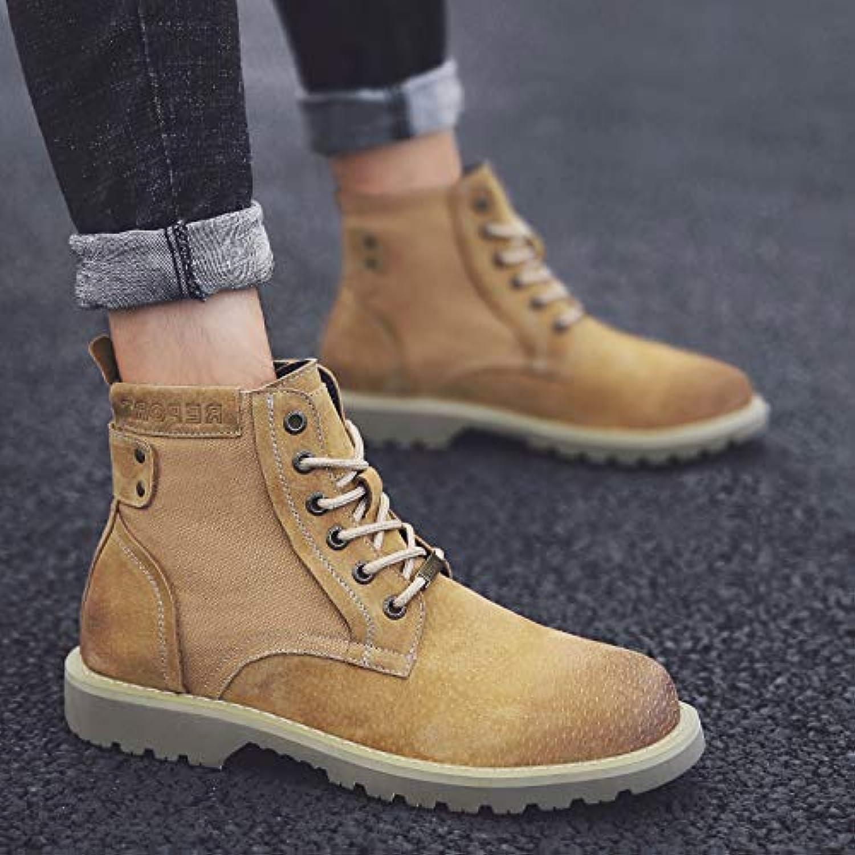 LOVDRAM Boots Men's Booties Men'S Martin Boots Men'S Motorcycle shoes Men'S Wild High Boots Boots Tooling Boots Military Boots Men'S shoes