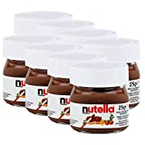 Ferrero Nutella Kleines Mini Design Glas 8er Set a 25g, Brotaufstrich, Nussnugatcreme, Schokoladen...