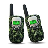 Outdoor Toys for Kids 5-10 Year Old Joyfun Walkie Talkies for Kids Boys Long Distance Teens Hiking Christmas Birthday Gifts for Boys 6, 7, 8+ Year Old Camo - 1 Pair