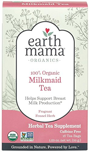 EARTH MAMA - ANGEL BABY Organic Milkmaid Tea Fragrant Fennel Herb 16 Packts