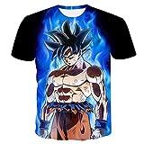 MDGCYLFD Dragon Ball Z Goku Shirt Hipster Sphere Japanese Anime T-Shirt Hombres Camiseta Camiseta-A_6XL