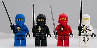 Lego Ninjago Set of 4 Ninjago Minifigures - Jay, Kai, Cole, Zane