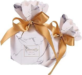 50 Pièces Boîte de Bonbons Mariage, Boite de Bonbons, Coffret Cadeau avec Ruban, Petite Boîte Papier Cadeau, Coffret Cadea...