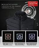 ❤️ Räumungsverkauf ❤️ 2018 Unisex Leichte Isolierte Beheizte Weste, USB Elektrische Kohlefaser 3 Ebenen Heizung Daunenweste für Outdoor Reisen Motorsport Radfahren Skifahren (EU XL=Tag 4XL, Schwarz) - 5