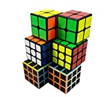 INTEGEAR 6 Pack, 2x2 and 3x3 Full Size 56mm Magic Speed Cube 3x3 Easy Turning and Smooth Play Durable Puzzle Cube Toy for Kids