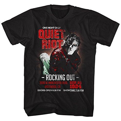 Quiet Riot Herren Rockingout T-Shirt Gr. M, Schwarz
