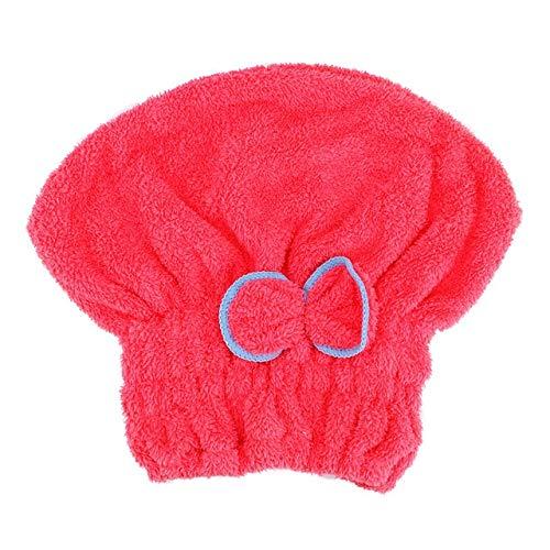 Rcsinway Accesorios de baño Sombreros de baño Toallas envueltas Rápidamente secas Sombrero de Pelo Hogar Textil Microfibra Absorbente y Damas de Secado rápido Secador de Pelo Cap (Color : Red)