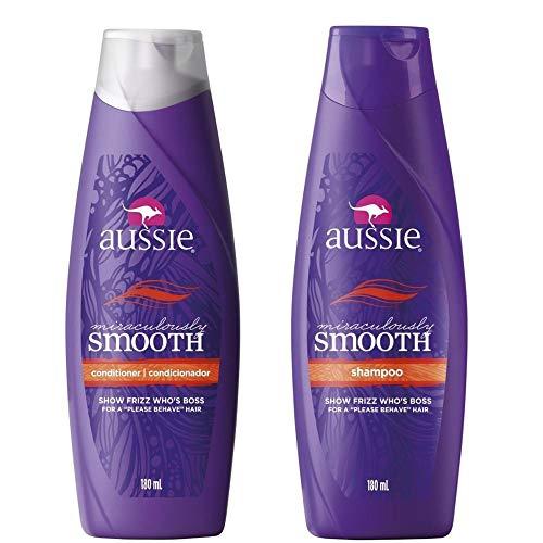 Kit Aussie Miraculously Smooth 180ml: Shampoo + Condicionador