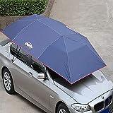LALEO Automatic Car Tent,Wireless Movable Carport Easy Installation Four-Season Folded Portable Anti-UV Water-Proof Anti-Snow Frost Ice,Car Umbrella,Sunshade,210X400CM Blue, Silver, Cyan,Cyan