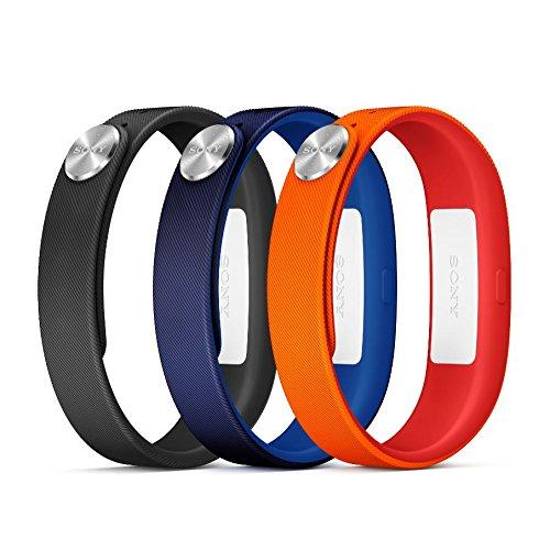 Sony Classic - Pack de pulseras SmartBand, medida L (naranja, azul, negro) SWR110