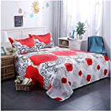 3d Rose Pattern Printing Bed Sheet Pillow Cover Bedding Set Queen King Twin Size 3d Digital Printing Home Textile Queen 4pcs C