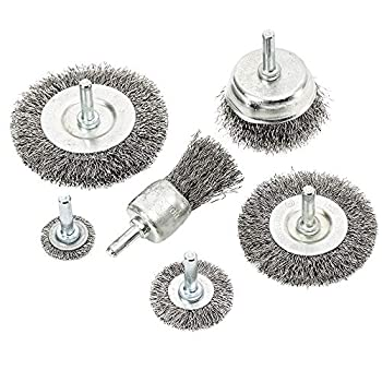 eHomeA2Z Wire Wheel Steel Brush Cup  6 Pcs  For Drill 1/4 Inch Arbor