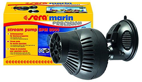 sera 31112 marin stream pomp SPM 8000 stromingspomp voor zeewater of pomp geschikt voor zout water (Qmax: 8000 l/h Hmax: 1,50 m bij 28 Watt met EU-stekker en 1,4 m netsnoer)