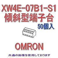 オムロン(OMRON) XW4E-07B1-S1 (50個入) プリント基板用端子台 傾斜型端子台 7極 (端子ピッチ3.81mm) NN