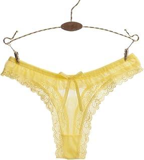 Colorido Women Fashion Sexy Heart Pattern Bowknot Lace Low Rise Brief  Underwear Thong 72000bd17