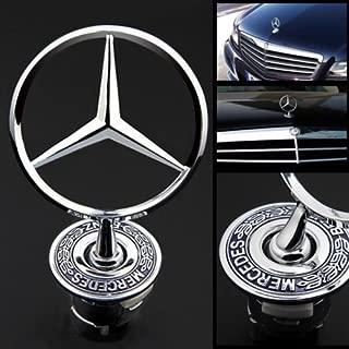 3D Mercedes-Benz Standing Star Logo/Badge Emblem Spring Mounted Front Hood Ornament (KD-MB-07)