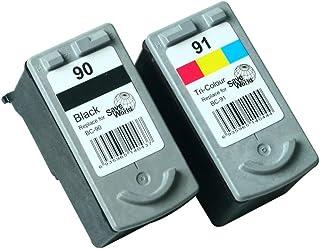 Delightcolor Canon(キャノン)用BC-90(BK)増量+BC91(カラー)増量 2個セット残量表示付 BC70+BC71増量タイプ再生インク 【対応機種】PIXUS - (MP470 MP460 MP450 MP170 iP2600 iP2500 iP2200 iP1700)