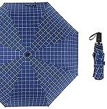 dh-2 Ombrello Mini Ombrelloni Tasca Piccola Pieghevole Pioggia Uomo Donna Verde