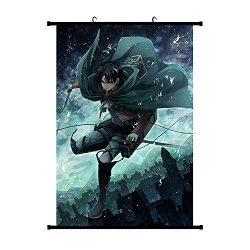 ALTcompluser Wallscroll Wandbanner Dekorative Rollbild Wandbild Stoff Poster Anime(30 * 45 cm Attack on Titan)