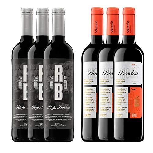 Pack Vinos Crianza D.O.C Rioja (6 Botellas) - 3 RB + 3 Bordón Crianza