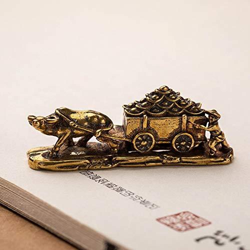 GIAO Figuras de Carro de Buey de Cobre Antiguo, miniaturas,