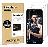 ivoler [3 Unidades] Protector de Pantalla para Huawei Honor 7X, Cristal Vidrio Templado Premium