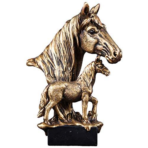 Posągi i rzeźby głowy konia, abstrakcyjne figurki, meble do domu Décor, ganek w salonie Biurko na biurko Stół na wino Aranżacja szafki na wino Dekoracja, prezent, mosiądz