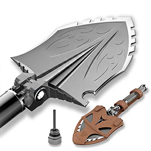 Zune Lotoo Survival Camping Shovel Folding Tactical Gear Military,24 in 1 Multifunctional Emergency Outdoor Fishing Folding Off-Roading Camping Hiking Designed Multi Tool to RV Owner