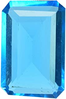 Translucent Brazilian Blue Topaz 28.20 Ct Finest Emerald Cut Blue Topaz Loose Gemstone