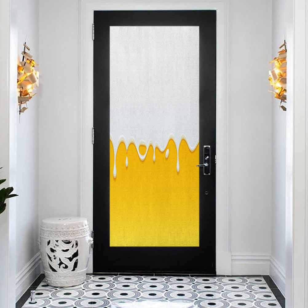 3D Door Sticker Denver Mall Murals Self-Adhesive Decals Whi Ranking TOP13 and Yellow