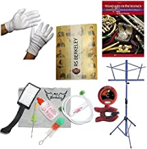 Trumpet Players Mega Pack - Essential Accessory Pack for the Trumpet: Includes: Trumpet Care & Cleaning Kit, Polish Gloves, Music Stand, Band Folder, Standard of Excellence Book 1 for Trumpet, & Tuner & Metronome
