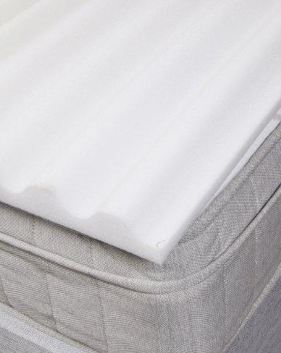 Lancashire Textiles Slight Seconds Extra Back Support Ridge Zoned Foam Mattress Topper/Pad - Double