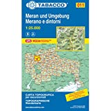 Meran und Umgebung: Wanderkarte Tabacco 011. 1:25000 (CARTES TOPOGRAHIQ - 1/25.000)