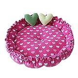 Cupcinu Hundebett Pet Nest Haus Katze Bett Hund Decke Dog Kennel Mats Hund Bett waschbar Gedruckt mit Einem Liebesmuster -