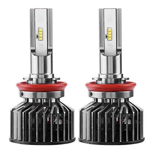 Duokon 1 par de bombillas de faros delanteros LED automáticos superbrillantes impermeables para coche 6000K 55W H11