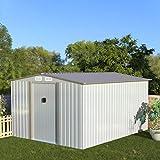 Aoxun Metal Outdoor Garden Storage Shed, 8' x...