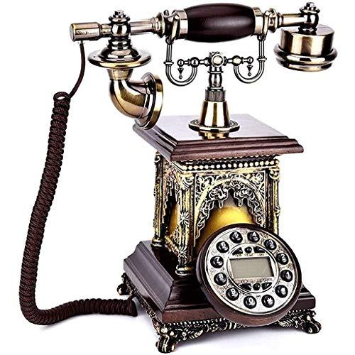 VERDELZ Teléfono Fijo Fijo Teléfono Retro Teléfono Fijo Hogar Sala De Estar Resina Teléfono Retro Decorativo