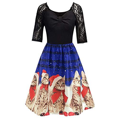 MRULIC Freizeitkleider Rückenfreies Kleid Damen Midi Kleider V-Ausschnitt Wrap Floral Partykleid Damen Gedruckt Asymmetrische Camisole Ärmelloses Kleid Strand Chiffon Abendkleid