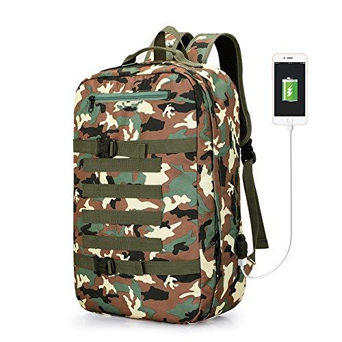 YBG Mochila multifuncional grande de viagem dupla bolsa de ombro masculina mochila para laptop de negócios com porta de carregamento USB para computador de 15,6 polegadas, cor