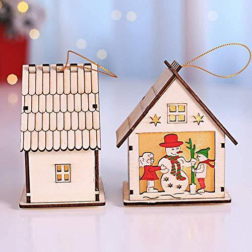 JALAL Christmas Chalet Light, LED Light Chalet Hotel Bar Christmas Tree Decoration Ornaments